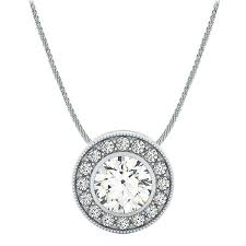 necklace setting platinum 999 00 can be set with a center diamond carat range 95ct 1 05ct only