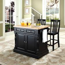 small kitchen island butcher block. Delighful Small Small Modern Black Kitchen Island With Drawer And Bamboo Butcher Block  Top Towel Holder Chairs For Very Spaces Ideas On