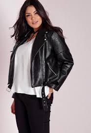 plus size black jacket luxury plus size faux leather biker jacket black