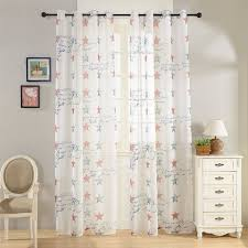 topfinel top finel america lucky star printed curtain window curtains dry panels for living room bedroom 54 inch width x 84 inch length grommets single