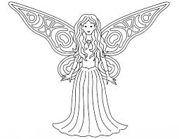 Fairy Coloring Pages Free Printable For Adults Hard Pdf Garden To