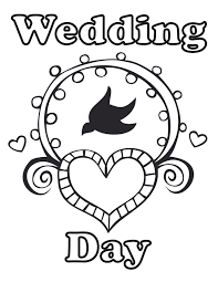 Bride and groom, seen from behind. Wedding Coloring Pages Best Coloring Pages For Kids