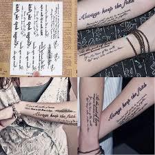 Anglické Výtvarné Dopisy Feather Dočasné Samolepky Body Tattoo At Vova