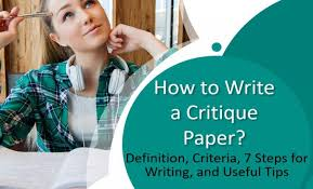 The chapterdiscussed two learning theories for a foundation to integration. How To Write A Critique Paper Definition Criteria 7 Steps And Tips