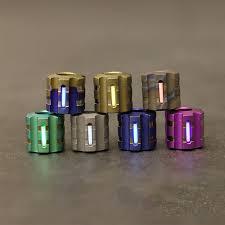 W <b>Titanium Alloy</b> Knife <b>Beads Paracord</b> Can Fits Tritium Gas Tube ...