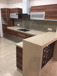Small Kitchen Design With Breakfast Counter Modular Kitchen With Breakfast Counter By Hoop Pine Modern