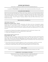 Personal Banker Qualifications Entry Level Personal Banker Resume