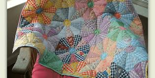 This Quilt Brings a Flower Garden Inside - Quilting Digest & Chuck Wagon Wheel Quilt Adamdwight.com