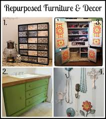 diy repurposed furniture. Repurposed-furniture-decor-collage Diy Repurposed Furniture U