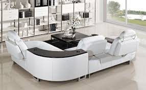 White Leather Living Room Furniture Furniture White Leather Sectional Sofa Design For Modern Living