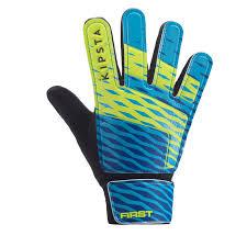 Kids' <b>Football Goalkeeper</b> Gloves First - Blue Yellow
