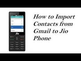 import and export contact on jio phone