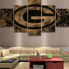 5 piece green bay packers wall art canvas paintings it make your day on brown wall art canvas with 5 piece green bay packers wall art canvas paintings for sale it