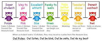 Half Day In Pre K Owl Behavior Chart Owl Classroom