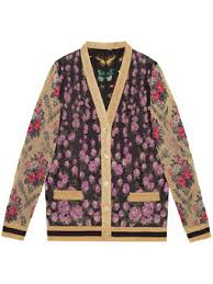 gucci inspired clothing. patchwork shiny jacquard reversible cardigan gucci inspired clothing