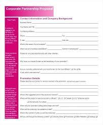 Partnership Proposal Samples Collaboration Proposal Template Corporate Partnership Research