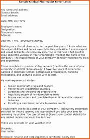 Cover Letter For Pharmacy Technician New Resume Cover Letter
