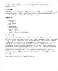 Merchandising Resume Professional Textile Merchandiser Templates To Showcase Your Talent