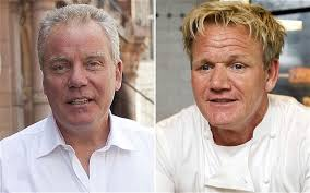 Food fight: Gordon Ramsay, right, and his sacked business partner Chris Hutcheson Photo: REX FEATURES. 10:00PM GMT 05 Dec 2012 - Restaurant-_2419724b
