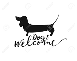 Silhouette Design Shop Dogs Welcome Lettering And Dachshund Silhouette Design Element