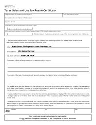 Tax Exemption Form ResaleCertTaxExemptFormEng Austin Screen Printing In Texas 6