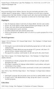 sample athletic resumes high school athletic director resume template best design tips