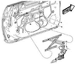 2003 toyota corolla 1 8l mfi dohc 4cyl repair guides interior view of power window motor and regulator assembly
