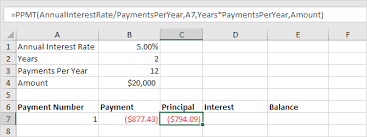 Monthly Principal And Interest Chart Loan Amortization Schedule In Excel Easy Excel Tutorial