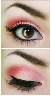 i bet every would like to wear the pretty pink eye makeup for their everyday look to get a dramatic effect you can also use another color you like to