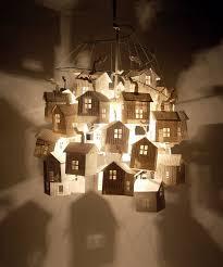 unique paper house lamp diy idea lighting also paper lantern chandelier