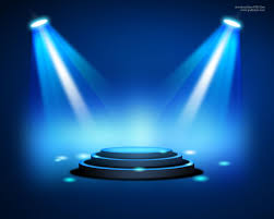 Blue Stage Lighting Stage Lighting Background With Spot Light Effects Psd