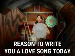 love song lyrics sara bareilles song in images reason to write you a love song today