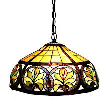 warehouse of tiffany 18 in bronze tiffany style single stained glass dome pendant