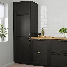 <b>ЛЕРХЮТТАН</b> Дверь, черная морилка, 40x80 см купить в интернет ...