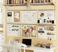 4 of the organization boards calendar full white board full cork board and mail sorter instead of books on shelf add burlap and lace boxes nice wall hanging office organizer 4