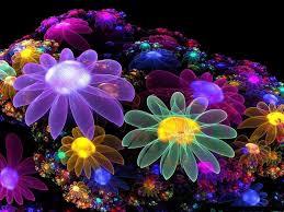 Flower Design Wallpaper 3d Wallpaper Flowers Design Wallpaper 8778498 Neon Flowers
