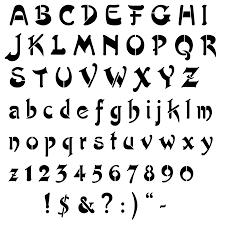 in free printable alphabet stencils