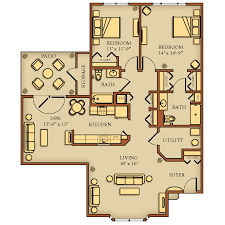 Two Bedroom with Den (Q) 1460 sq. feet