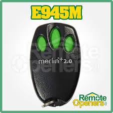 e945m merlin security 2 0 garage door remote control handset bearclaw