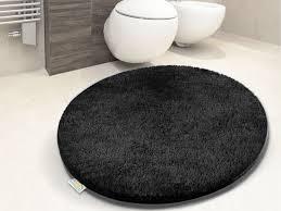 photo 5 of 8 round black bathroom rug black toilet mat 5
