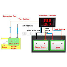 digital voltmeter ammeter dual led color 2in1 10a digital voltmeter ammeter dual led color 2in1