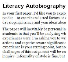 literacy autobiography essay literacy autobiography essay gxart literacy autobiography essay gxart orgpracticing and reading revision in tutor education courses an