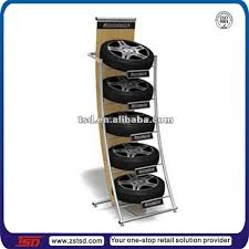 Alloy Wheel Display Stand Tsdm100 Custom Pos Floor Metal Tire Display RackMetal Rack Tyre 83