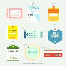 Luggage Tag Business Card Template Tags Holder Travel Id Bag