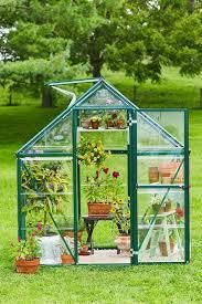 front view greenhouse door and window open
