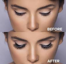 before and after mink lashes