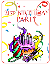 printable 21st birthday cards printable 21st birthday party invitations