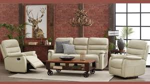 luna 3 piece leather recliner lounge suite