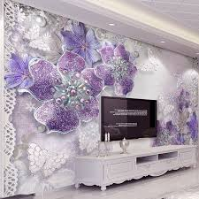 bedroom wallpaper designs. Contemporary Designs High Quality Custom 3D Stereoscopic Purple Flowers Bedroom Wallpaper Designs  TV Backdrop Wall Mural Modern Home On