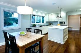 kitchen table lighting long chandelier over